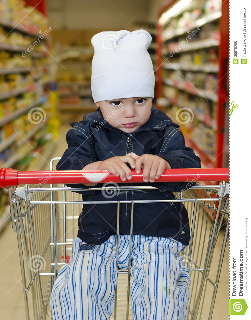Child In Shopping Trolley Royalty Free Stock Photos ...