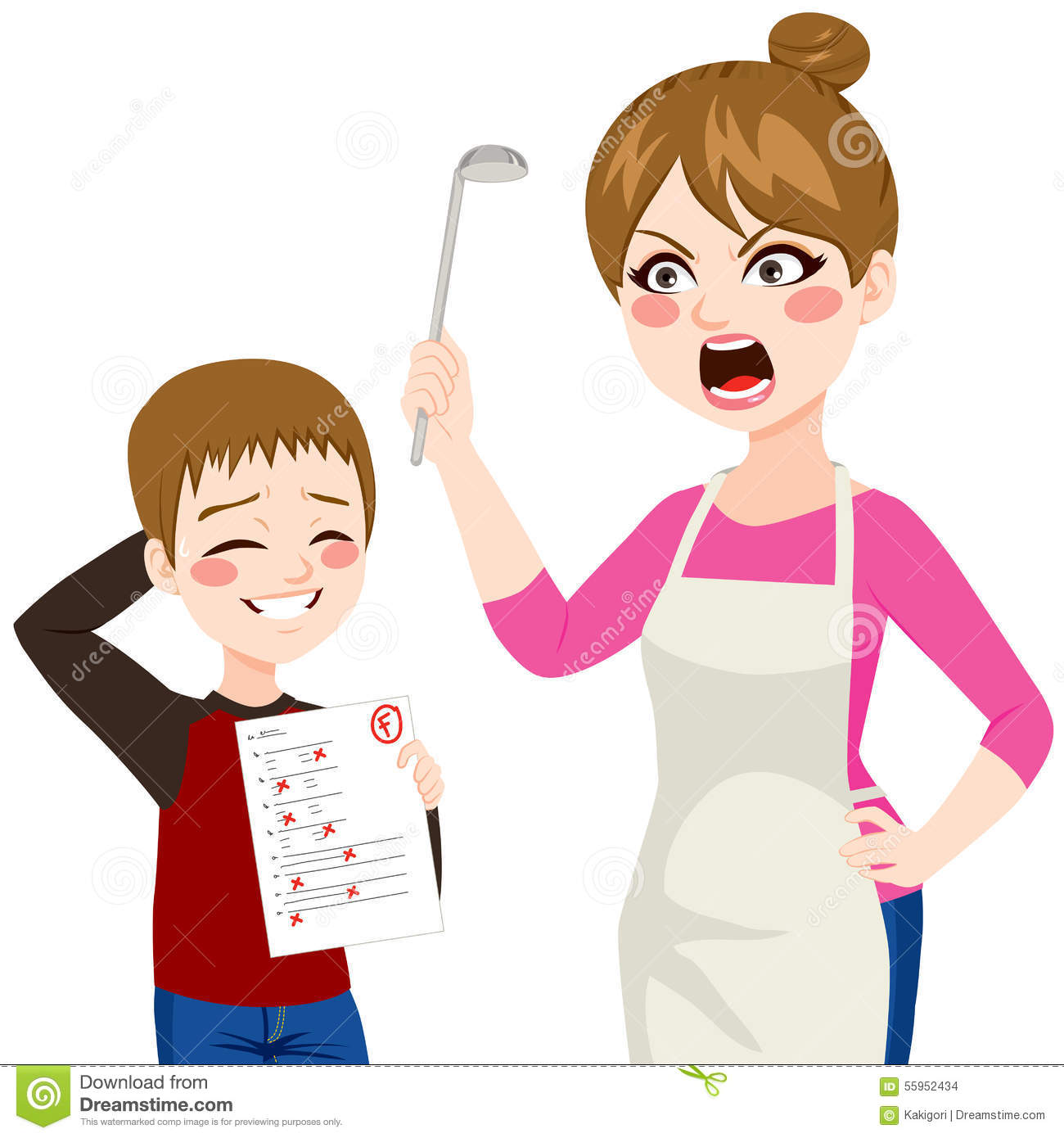 Child Showing Bad Grades Stock Vector - Image: 55952434