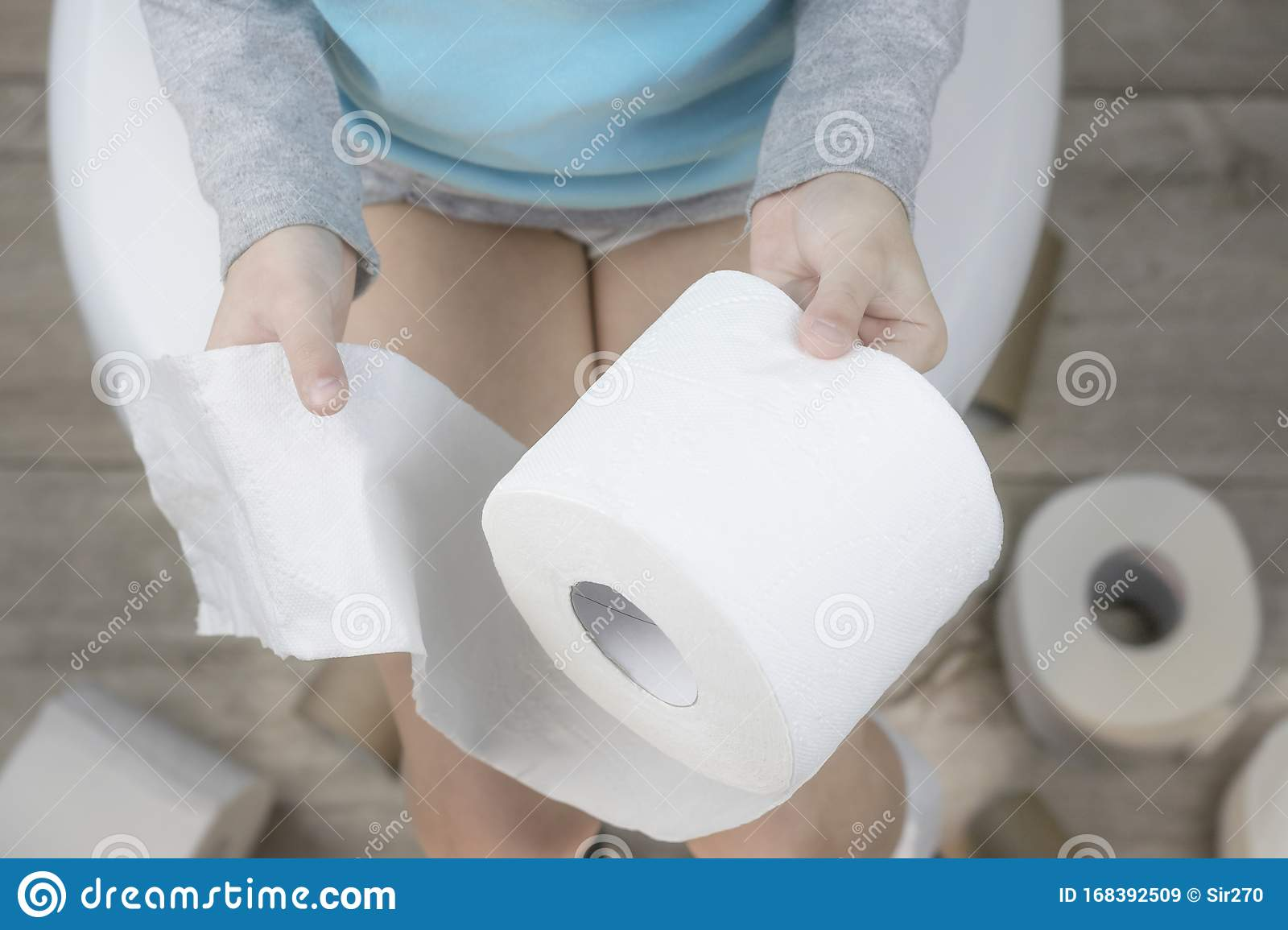 Child Sitting In Toilet High-Res Stock Photo - Getty Images