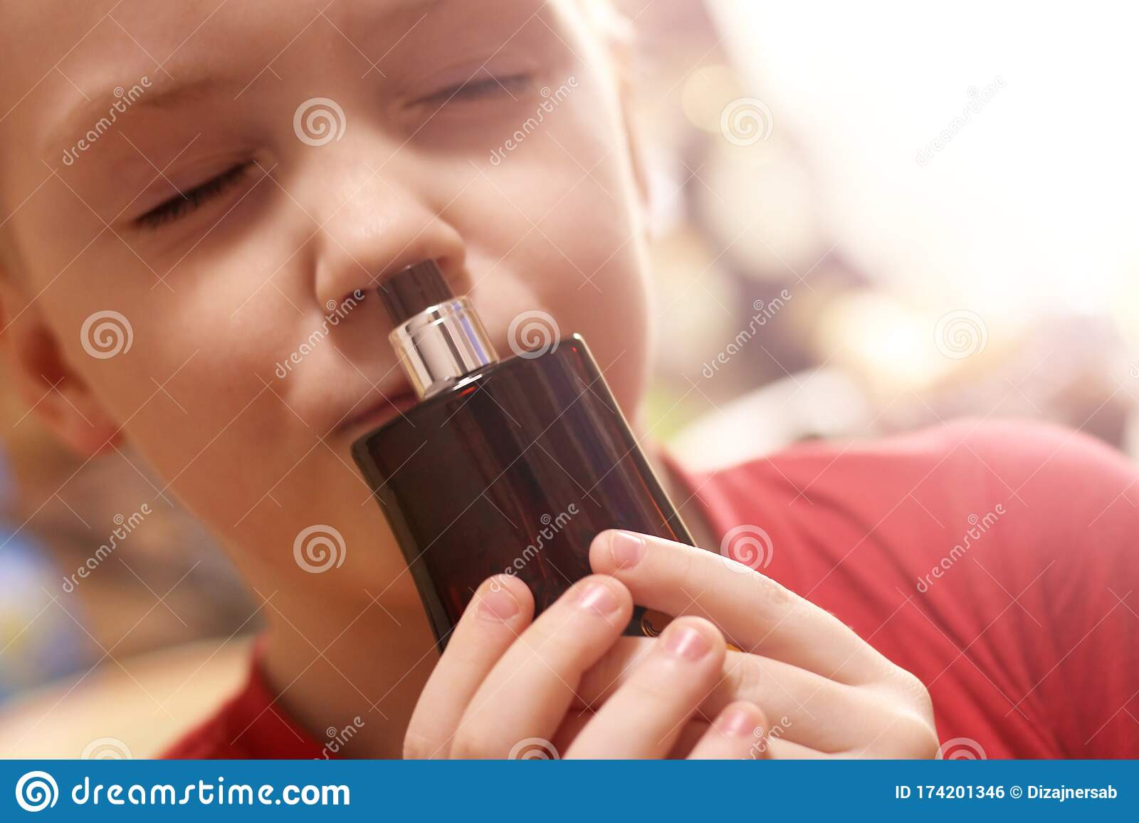 Child Smell Mother S Perfume So Close Stock Photo Image Of Caucasian Carefree 174201346