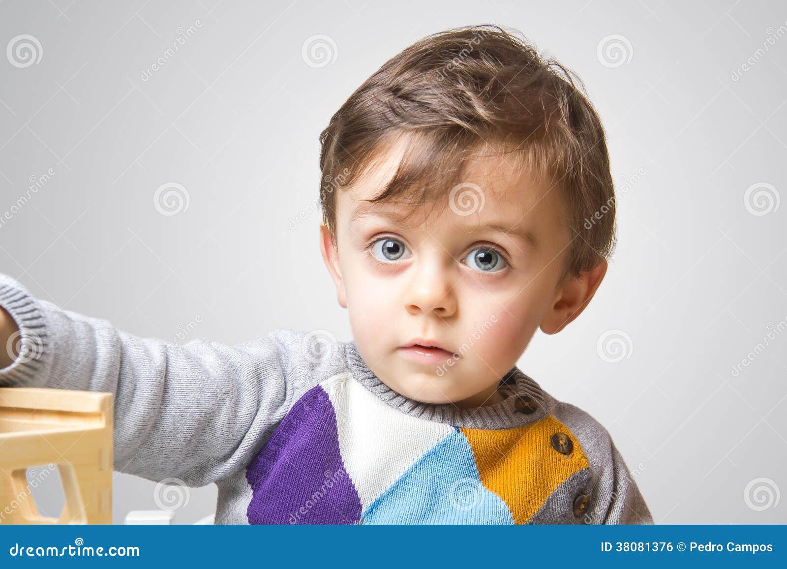 Child staring at the camera