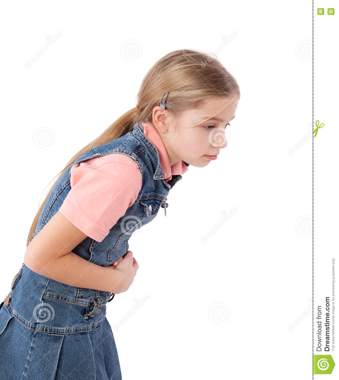 Young Girl Stomach Pain