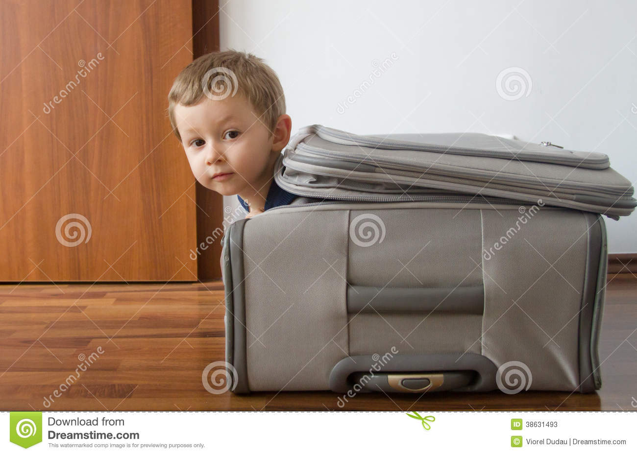 Child In Suitcase Stock Photos Image 38631493