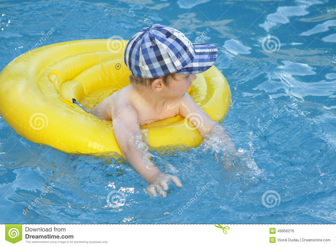 Child Swim Stock Photo Image 49956276