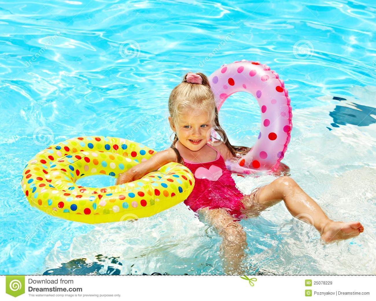Child swimming in pool royalty free stock images image for Children s garden swimming pools