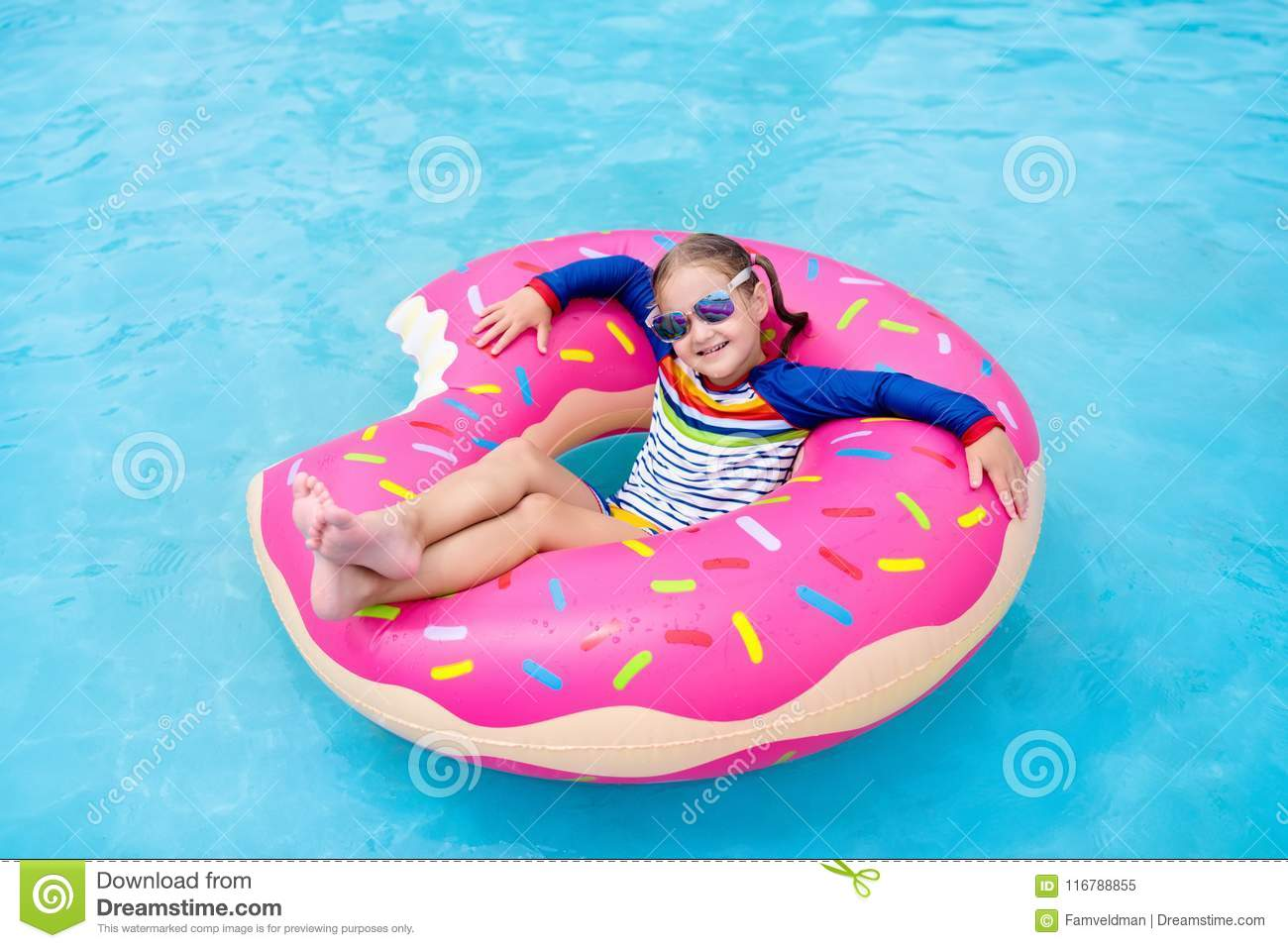 Swimming Ring Summer Donut Float Inflatable Swimming Float Tube Water Toys