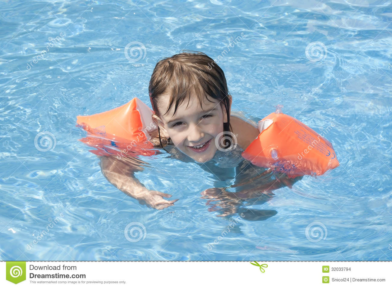 Child In Swimming Pool Stock Images Image 32033794
