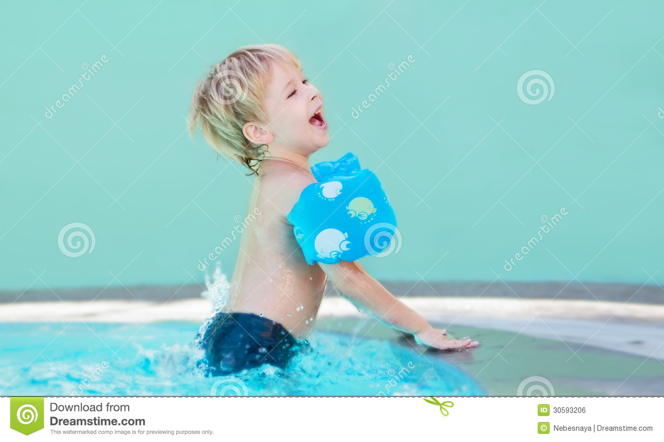 Child In The Swimming Pool Royalty Free Stock Image Image 30593206