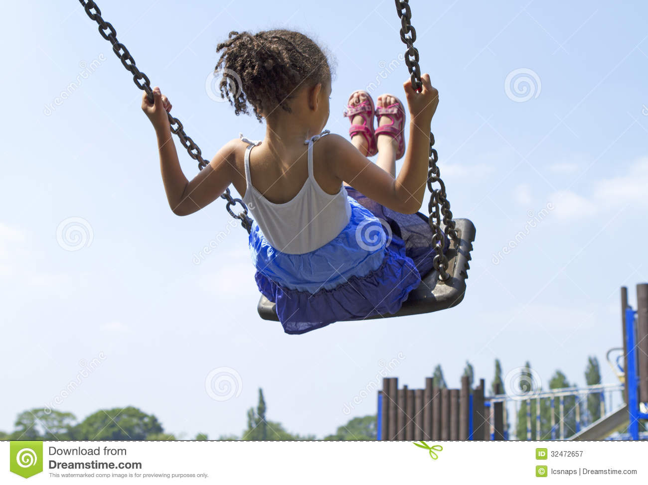 Child on swing royalty free stock photography image for Child swing plans free