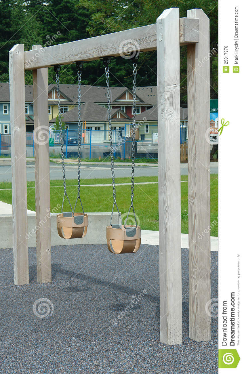 Child swing set outdoor park stock photo image 25817976 for Child swing plans free