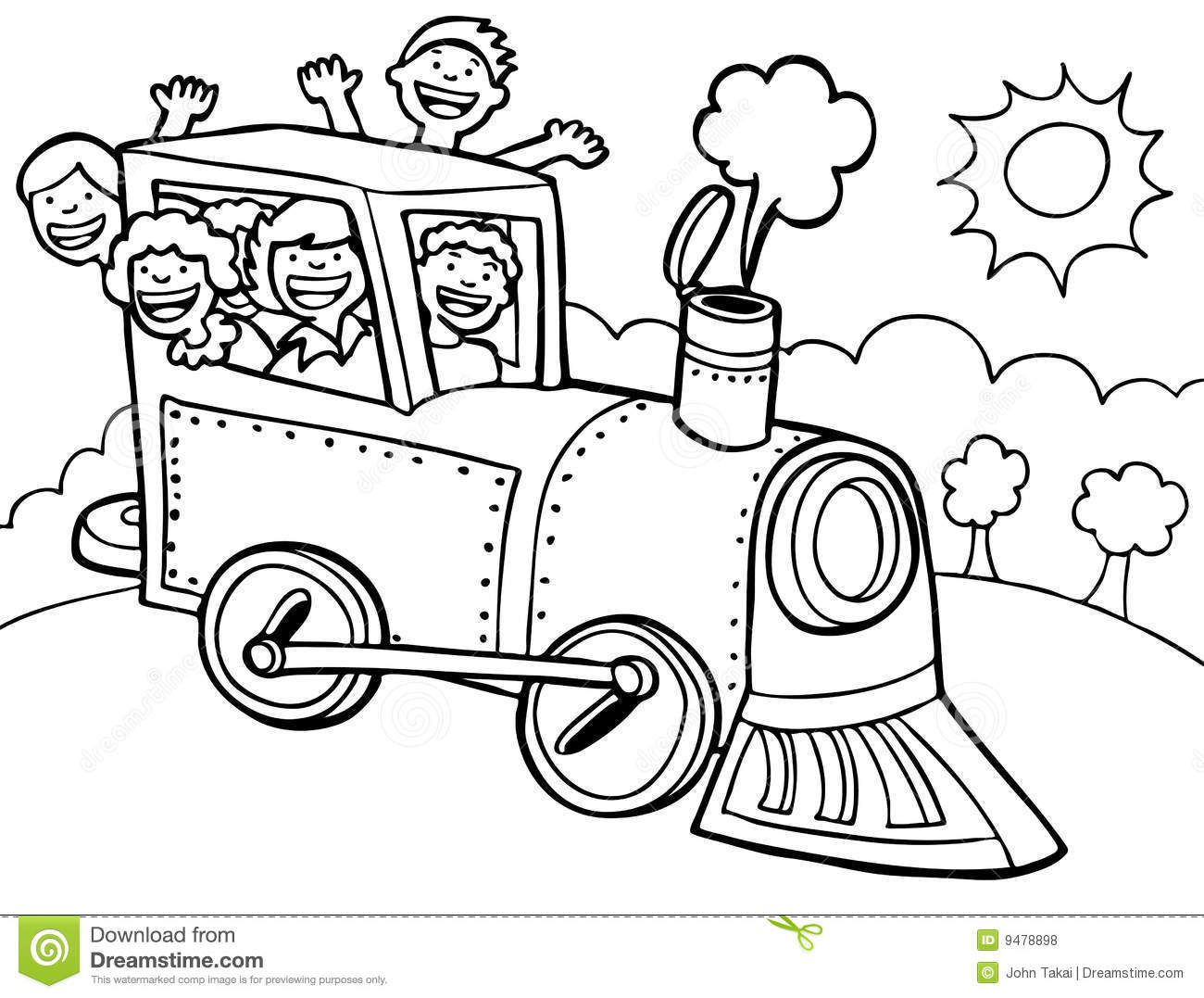 Child Train Ride Black And White Royalty Free Stock Photos Image 9478898