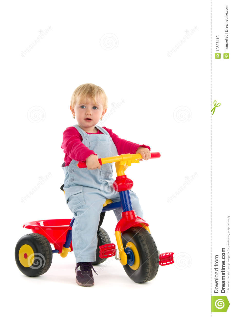 Child On Tricycle Stock Photo - Image: 18587410