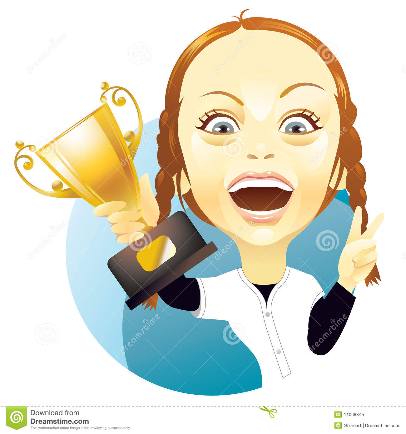 Child And Trophy Young Girl Lifting A Royalty Free Stock Photo