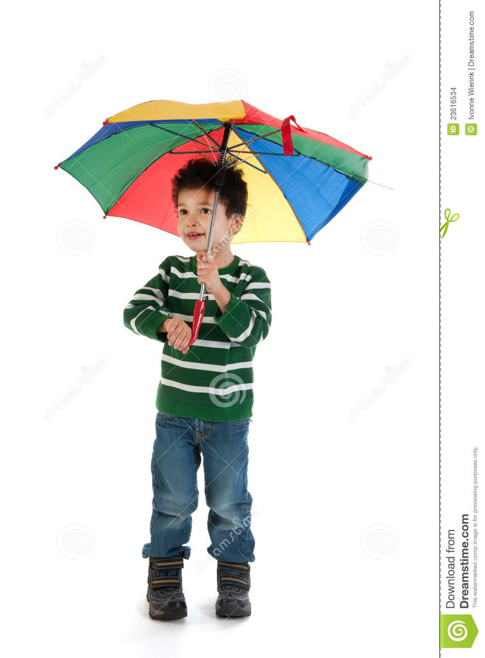 Child With Umbrella Stock Images - Image: 23616534