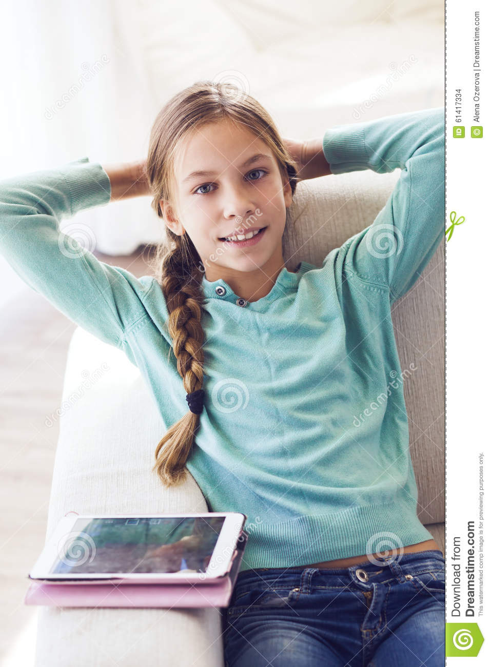 Child Using Ipad Stock Photo Image 61417334