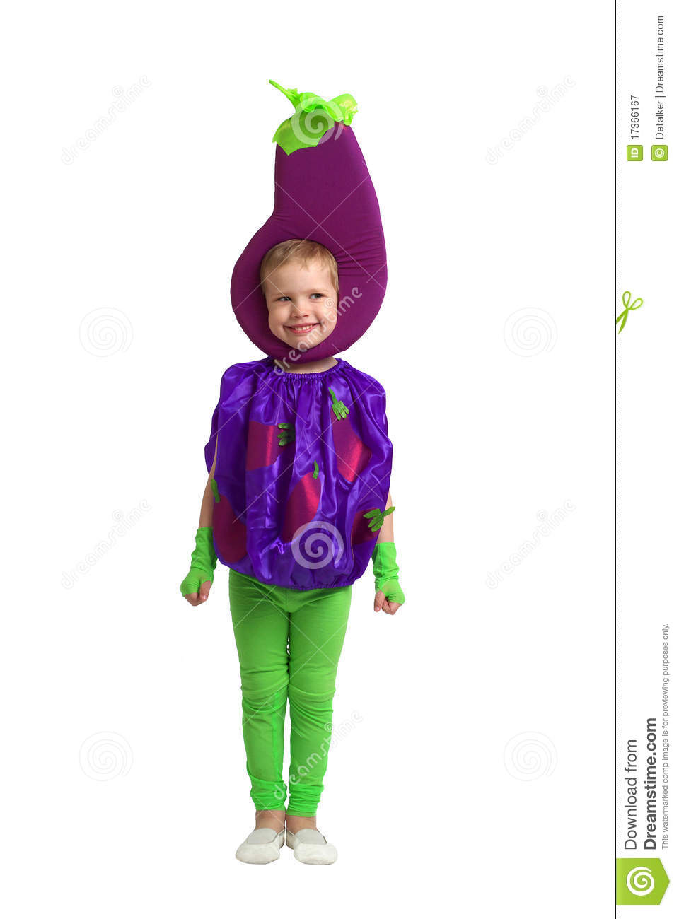 A Child In Vegetable Costume Stock Image Image Of Dress