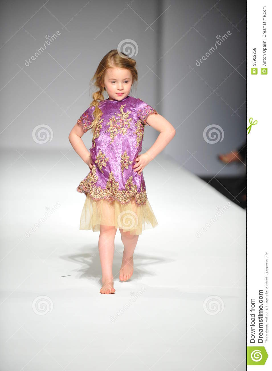 A Child Walks Runway At Nancy Vuu Children Show Editorial Stock Photo Image 38922258