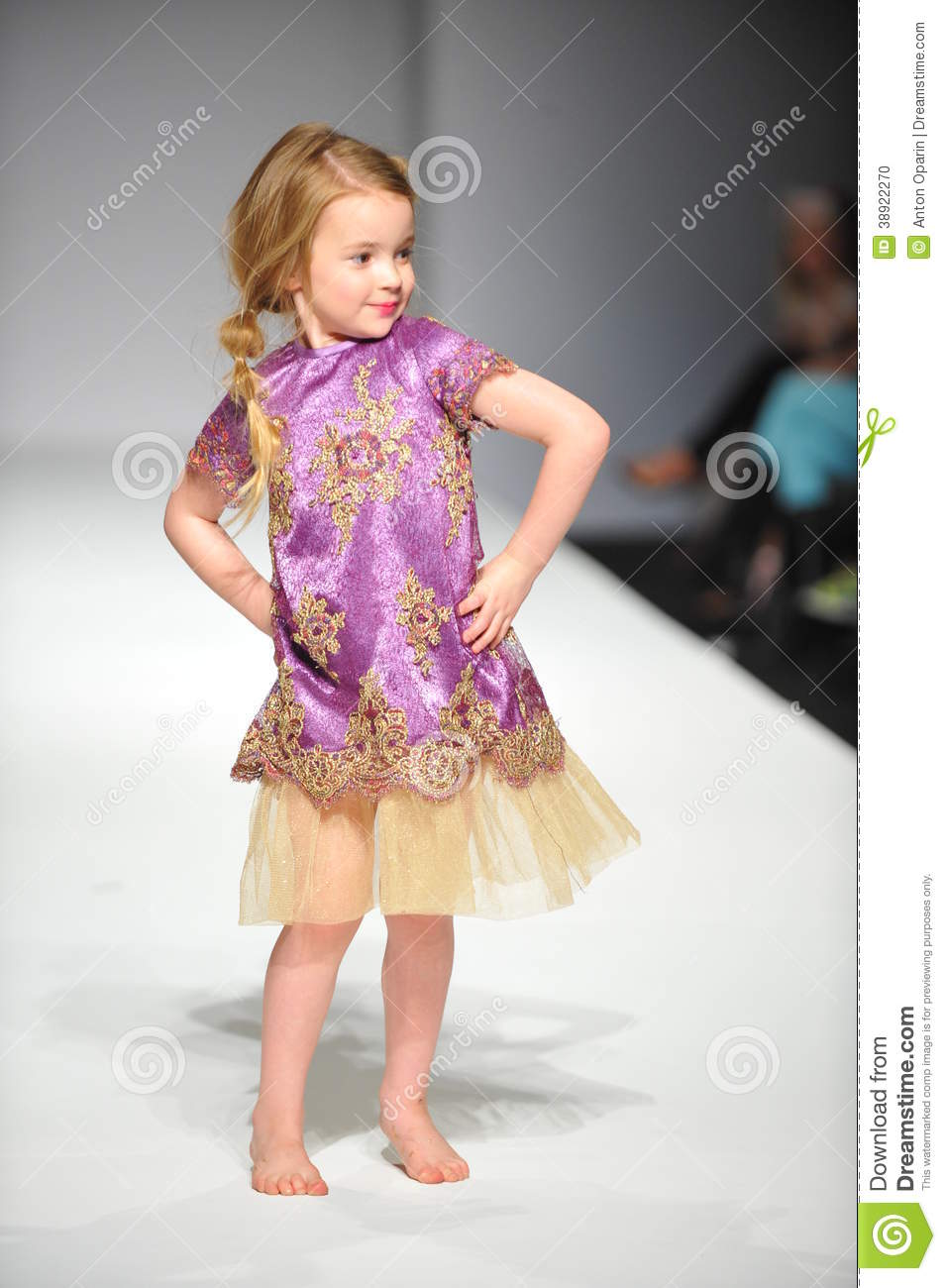 A Child Walks Runway At Nancy Vuu Children Show Editorial Image Image 38922270
