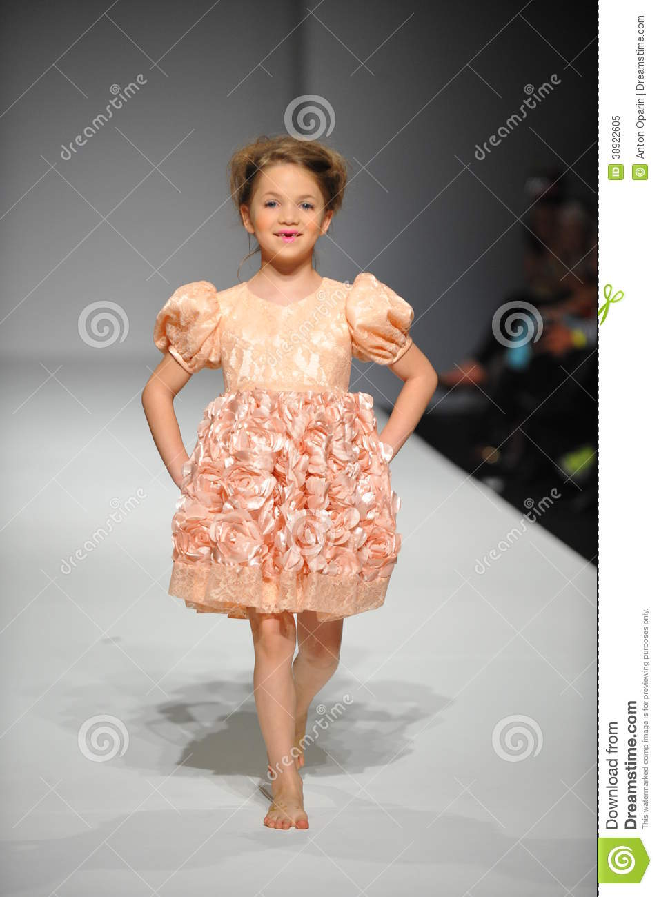A Child Walks Runway At Nancy Vuu Children Show Editorial Image Image 38922605