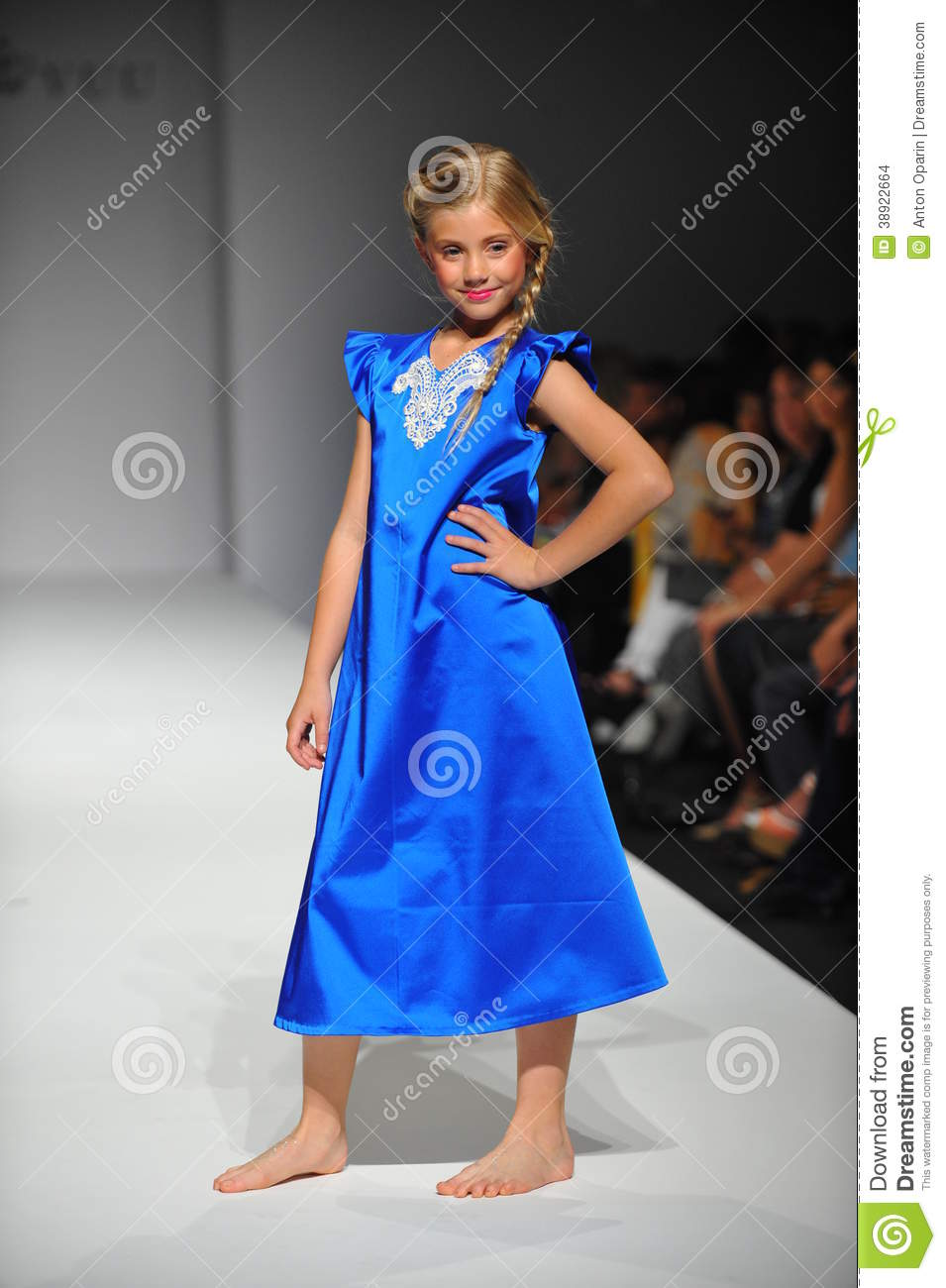 A Child Walks Runway At Nancy Vuu Children Show Editorial Stock Image Image Of 2014 Adorable