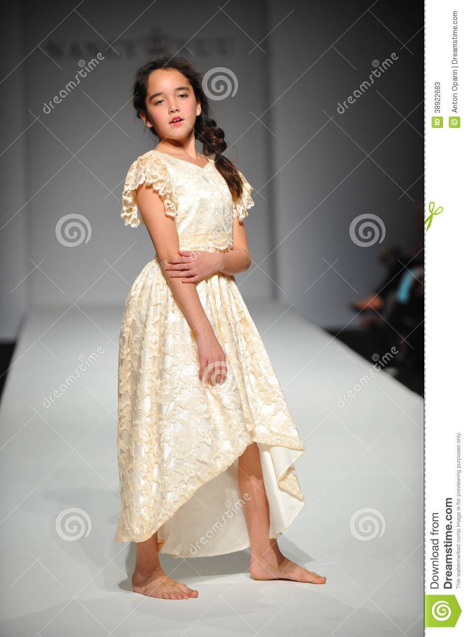 A Child Walks Runway At Nancy Vuu Children Show Editorial Stock Photo Image 38922683