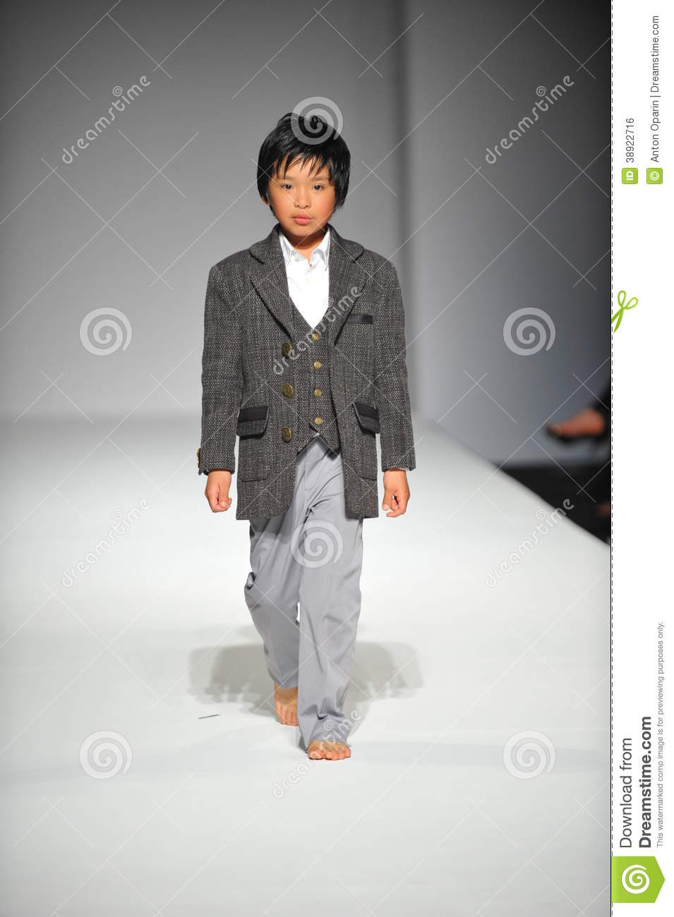 A Child Walks Runway At Nancy Vuu Children Show Editorial Photo Image 38922716