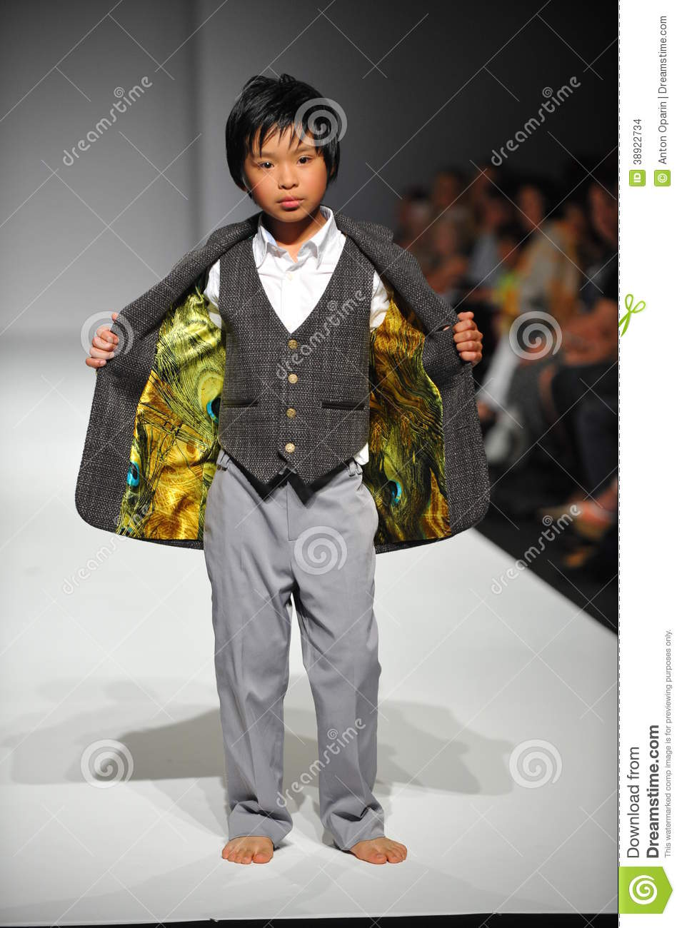 A Child Walks Runway At Nancy Vuu Children Show Editorial Stock Image Image 38922734