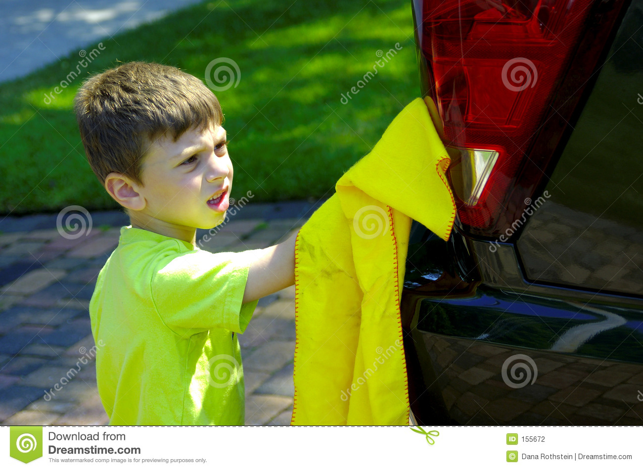 Download Child Washing Car stock photo. Image of home, wash, leisure - 155672