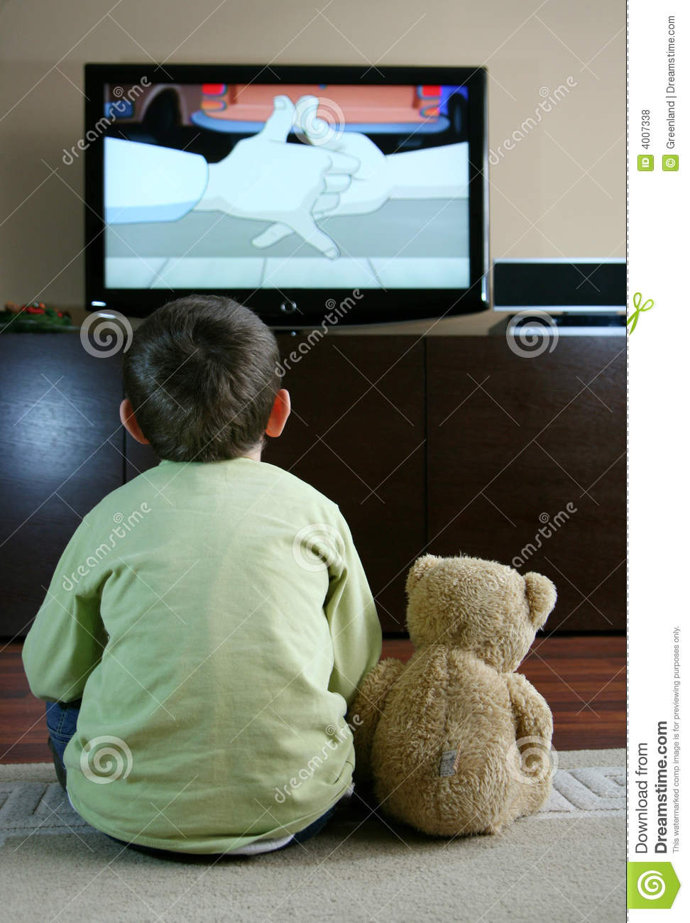 Child Watching Tv Royalty Free Stock Photos Image 4007338