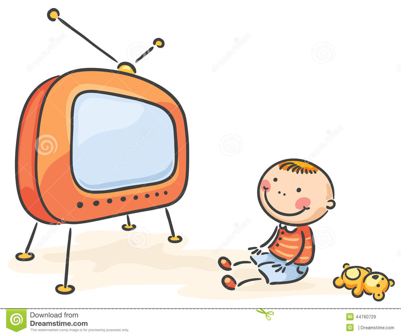 clipart boy watching tv - photo #30