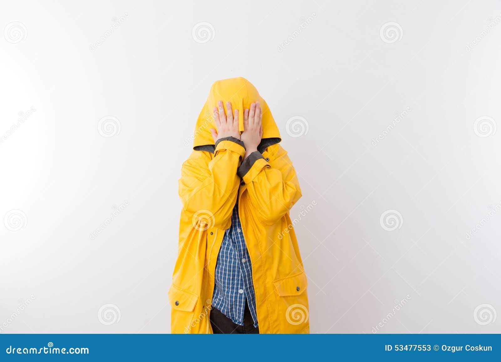 Rain Coat Clip Art Child Wearing Yellow Rain Coat