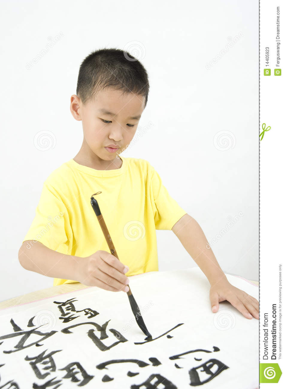 Writing Chinese Calligraphy For Chinese New Year Word Fu