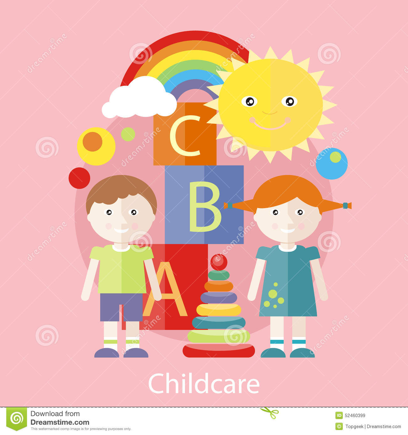 Childcare Concept Stock Vector Image 52460399