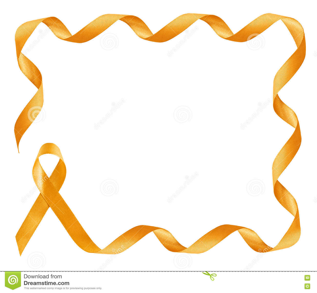 childhood cancer awareness golden ribbon frame stock image Yellow and Pink Cancer Ribbon Gold Cancer Ribbon Vector