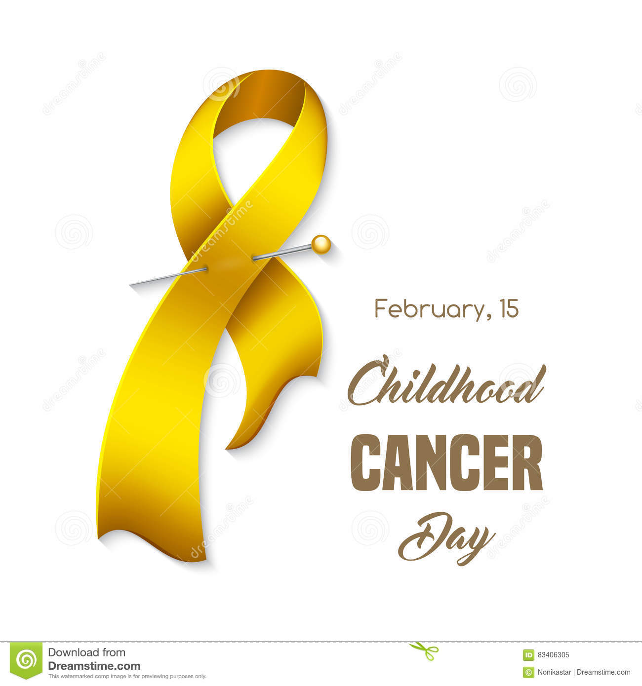 Childhood cancer ribbon stock vector illustration of banner 83406305 childhood cancer awareness ribbon poster or banner template vector illustration maxwellsz