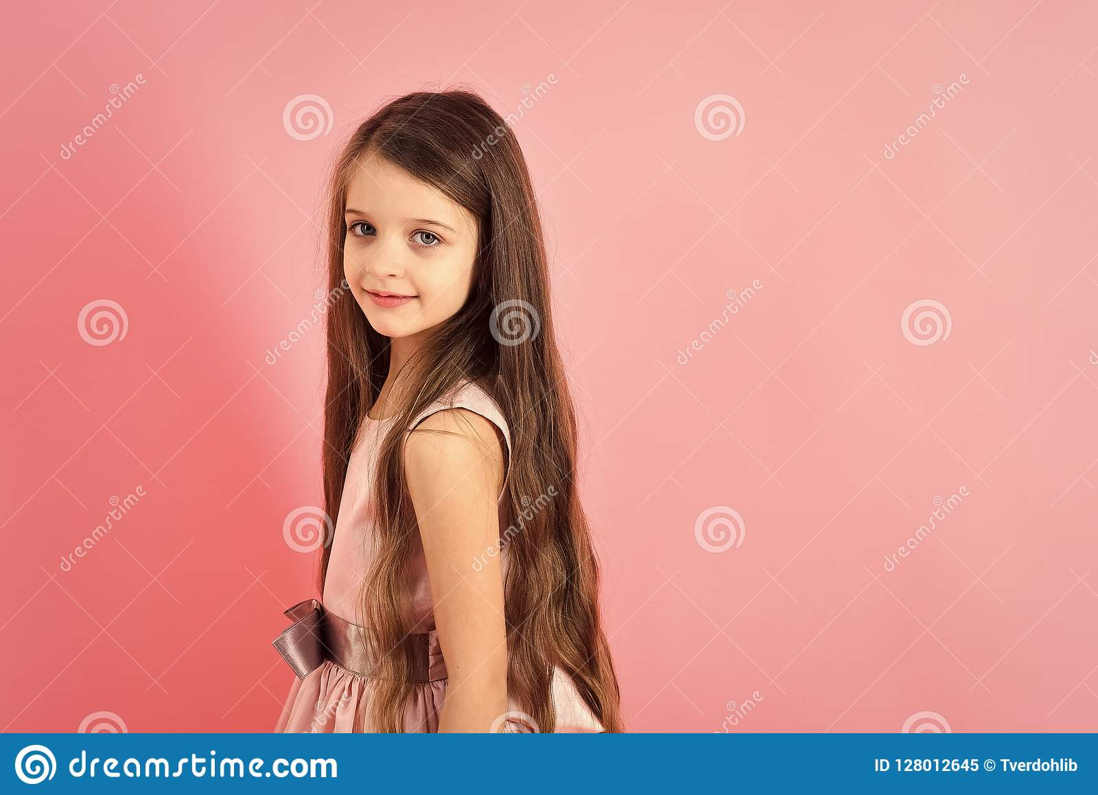 Childhood Look Happiness Hairstyle Stock Image Image