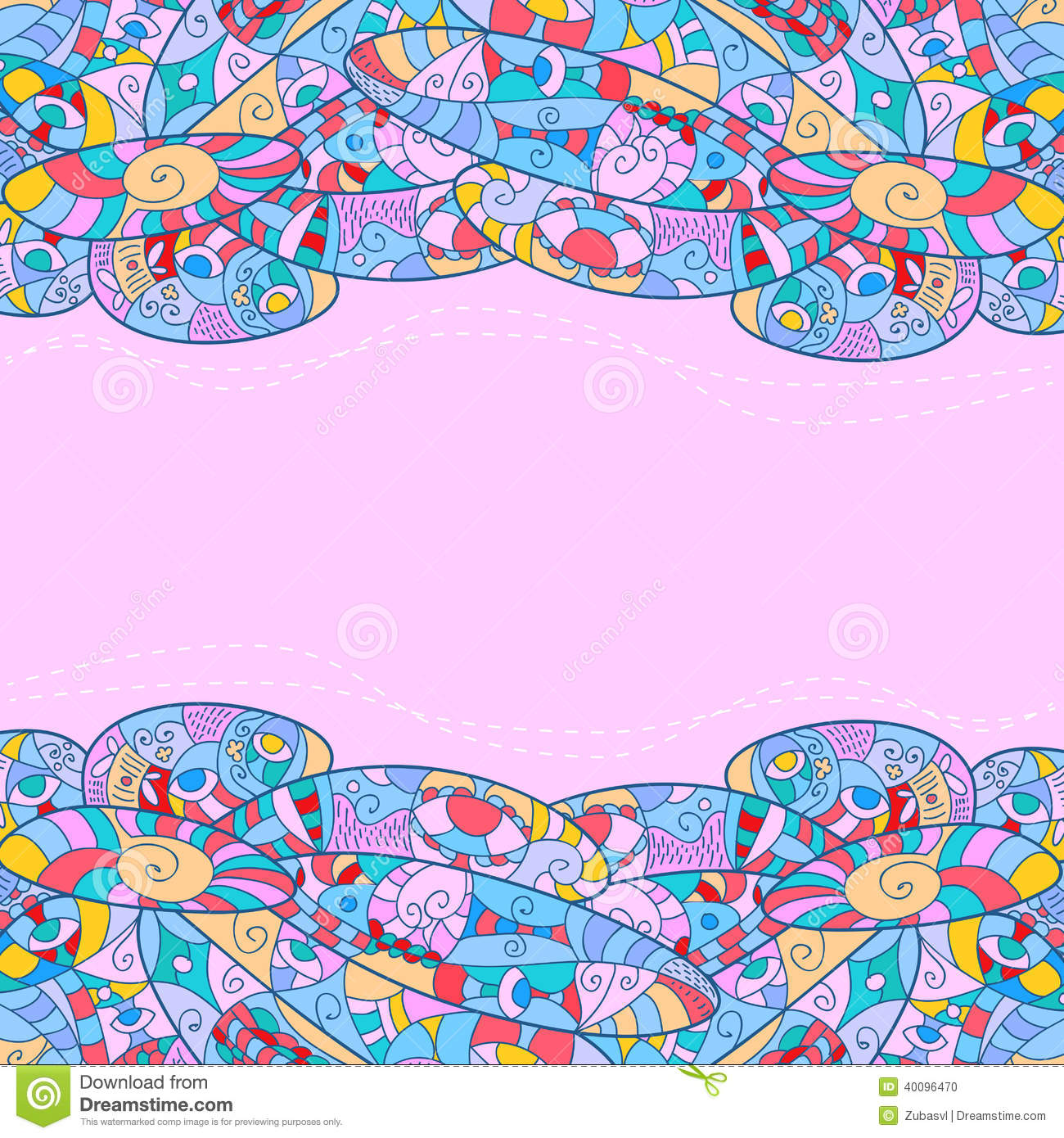 Book Cover Patterns Photo : Childish frame with abstract patterns pink stock vector