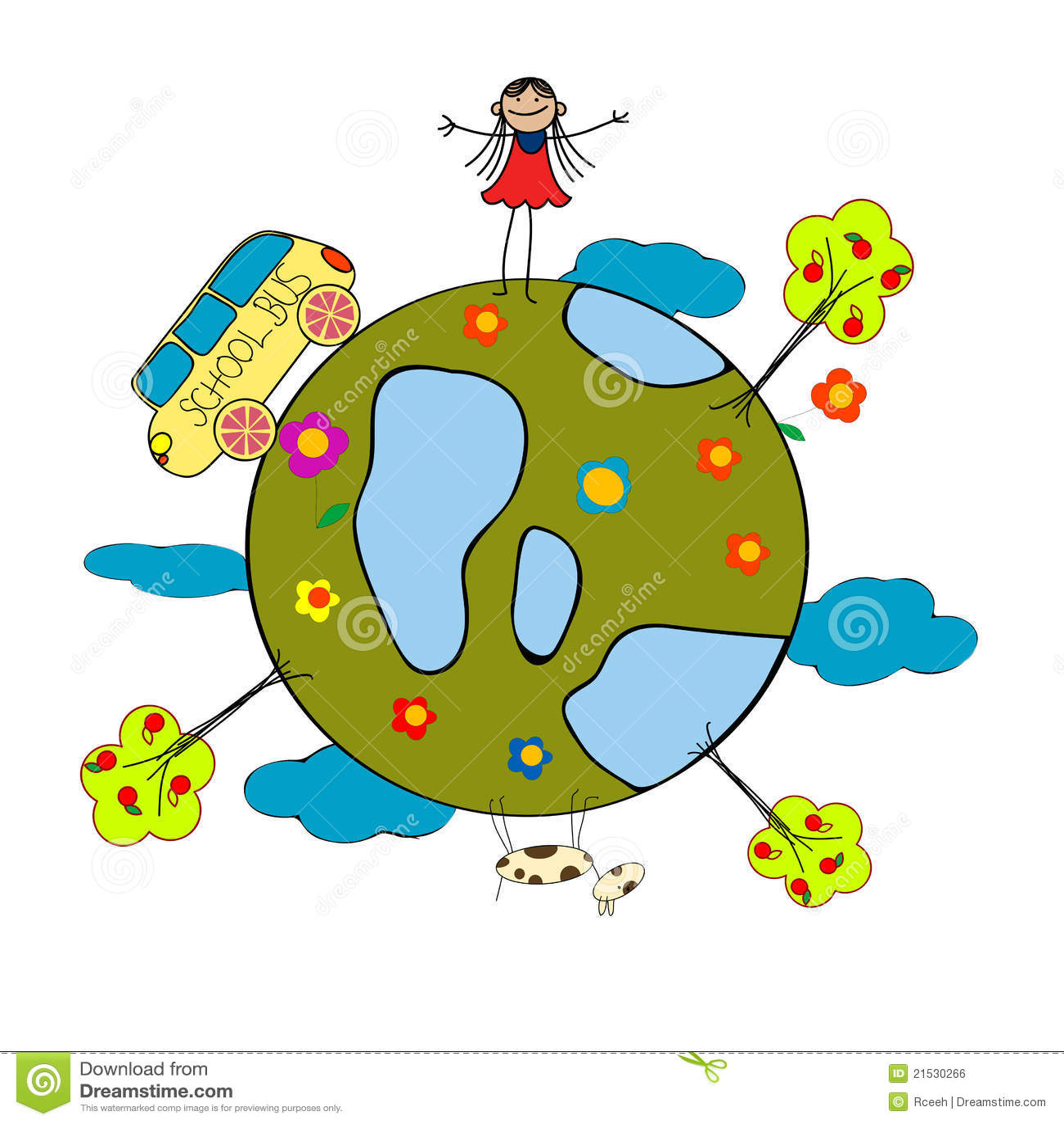 childlike drawing royalty free stock image image 21530266
