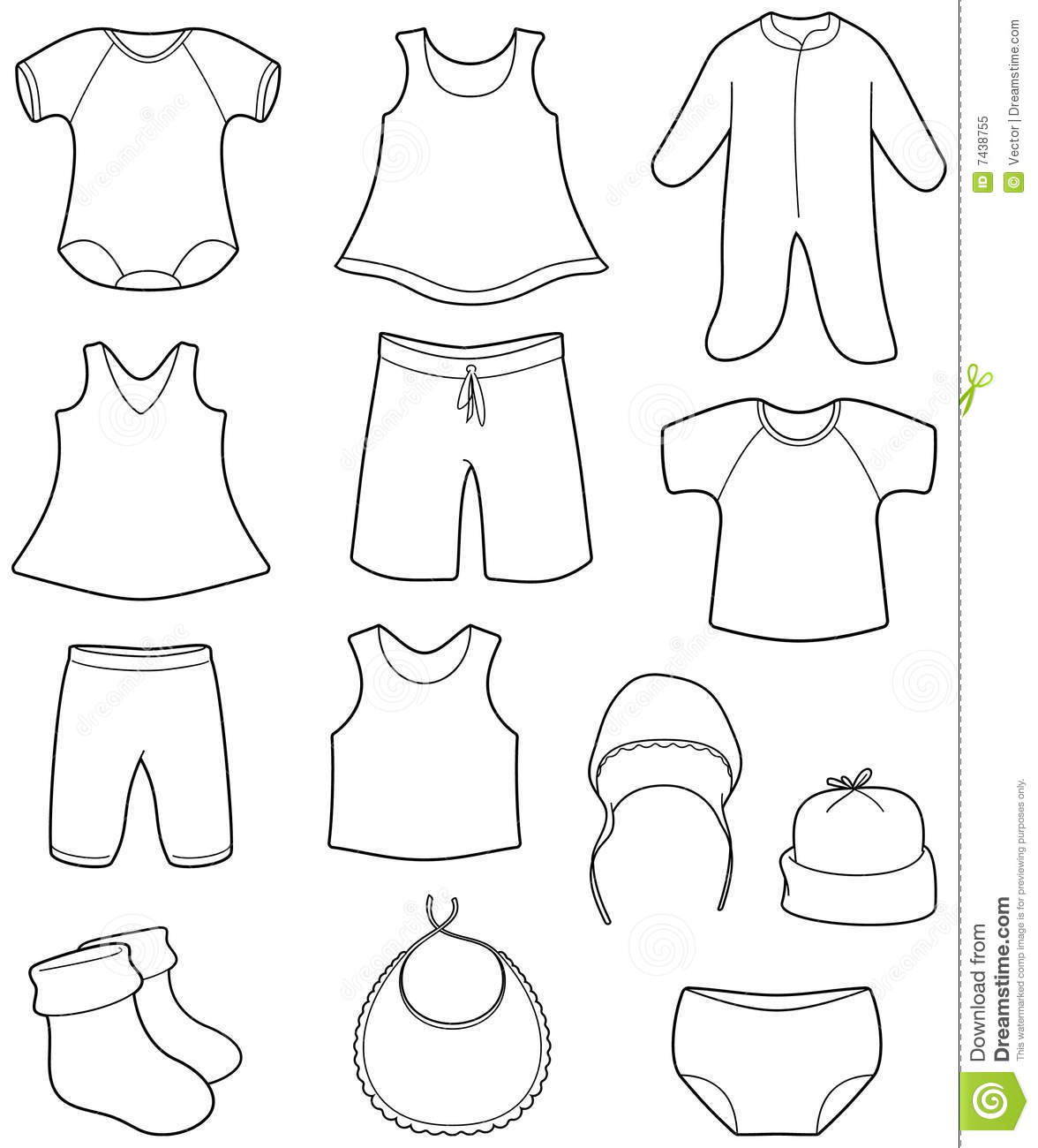 Baby Clothes Clipart Free
