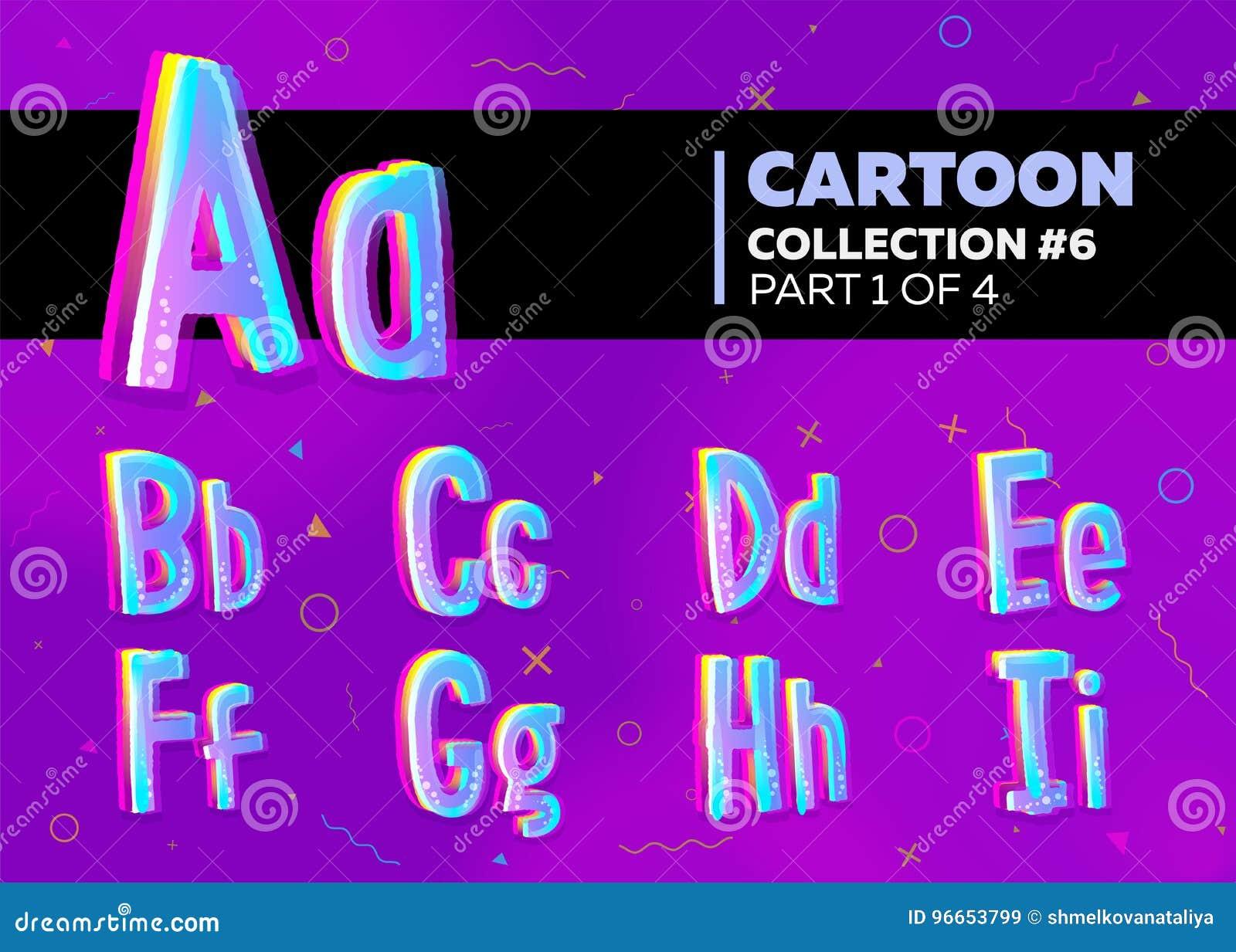 Children's komisk vektorstilsort i tecknad filmstil brigham