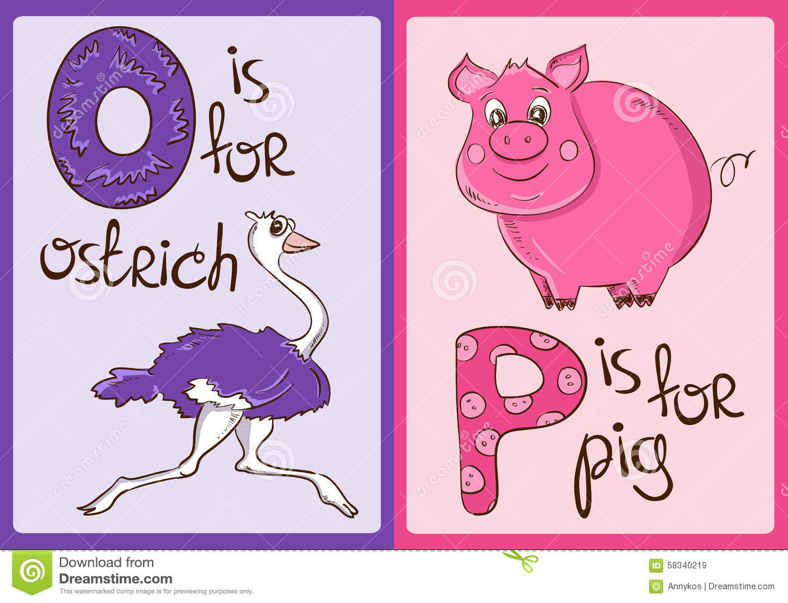 Alphabet Letter P Pig Stock Illustrations – 329 Alphabet Letter P ...