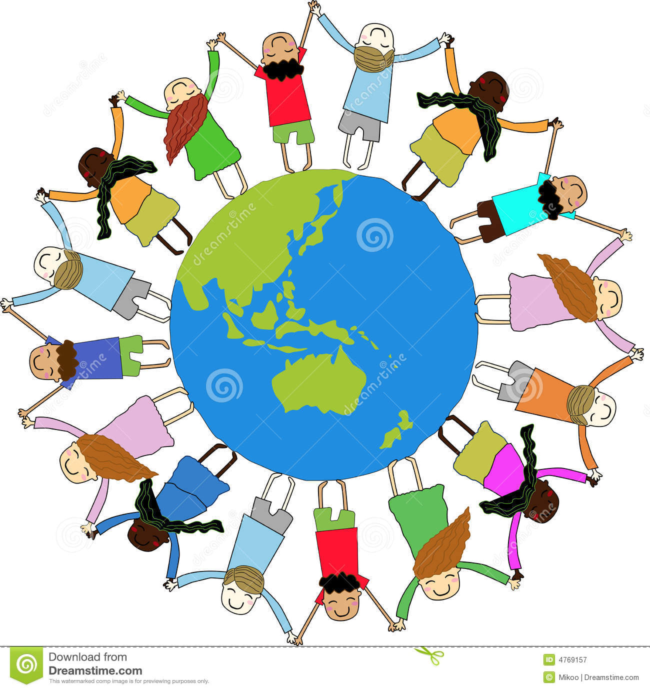 Unity Line Art Map : Children around the world stock vector illustration of