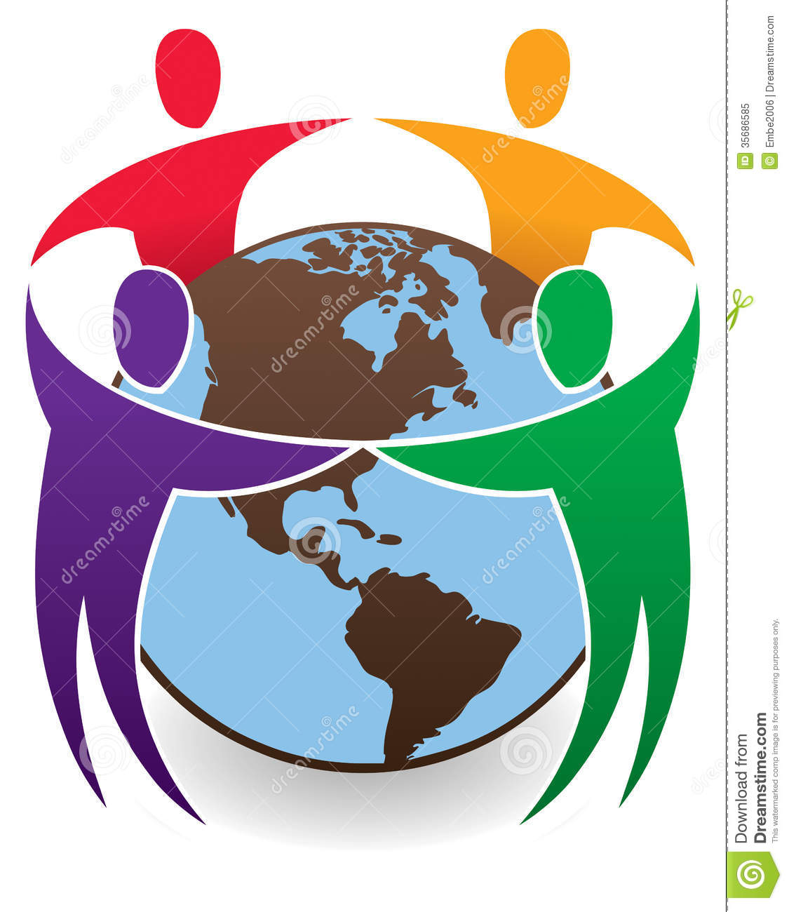 Children Around The Wo...A Circle Of Hands Clipart
