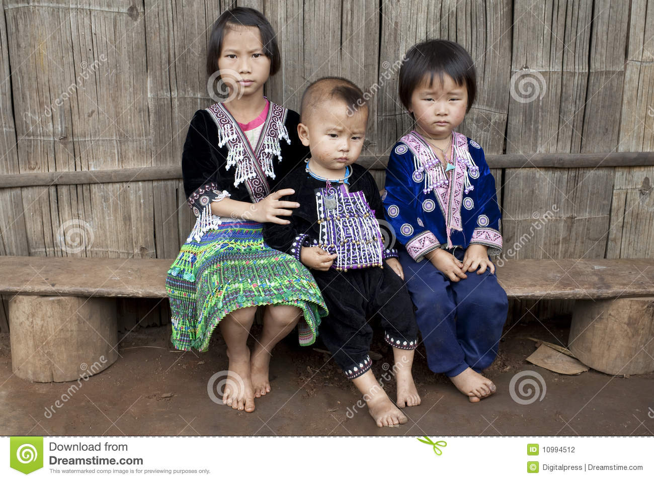 Children of Asia, ethnic group Meo, Hmong