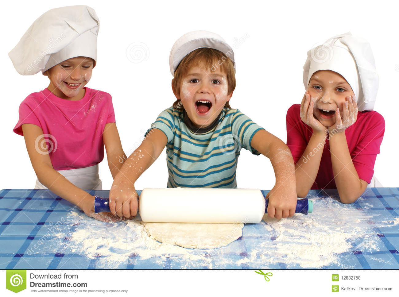 Children Baking Stock Photo Image Of Cuisine Dough