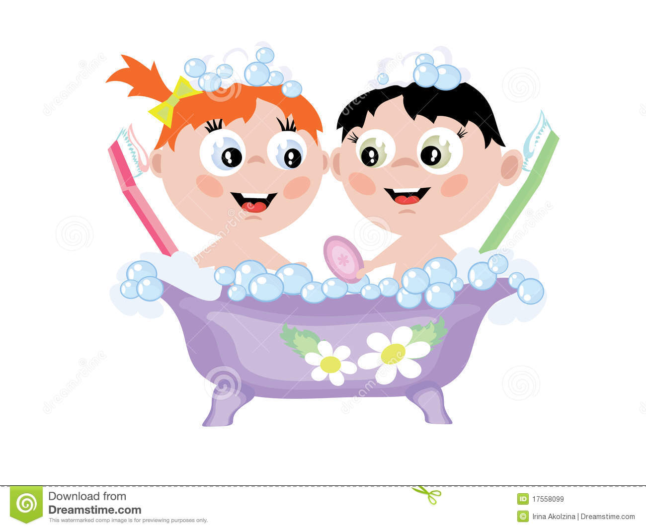 Children In The Bath Royalty Free Stock Images - Image ...