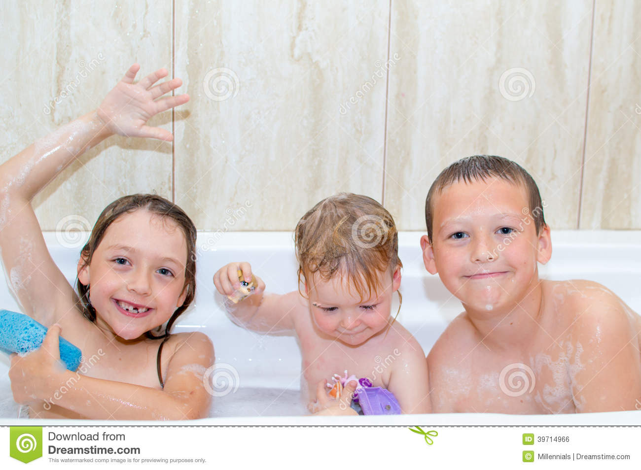 Children taking bath stock photo. Image of loveable ...