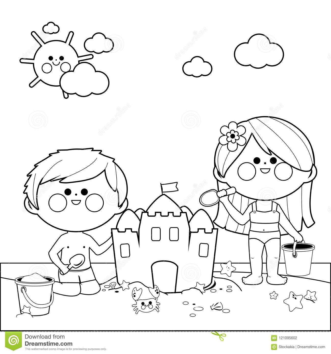 summer coloring pages - Free Large Images | 1390x1300