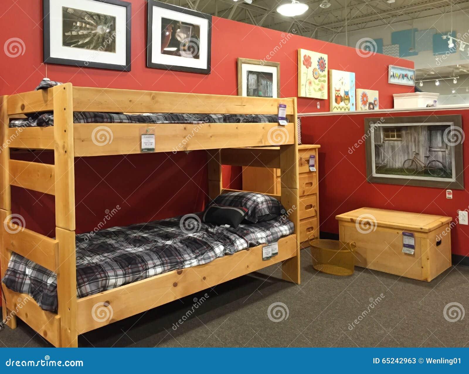 Selling Bedroom Furniture Children Bedroom Furniture Selling Editorial Stock Photo Image
