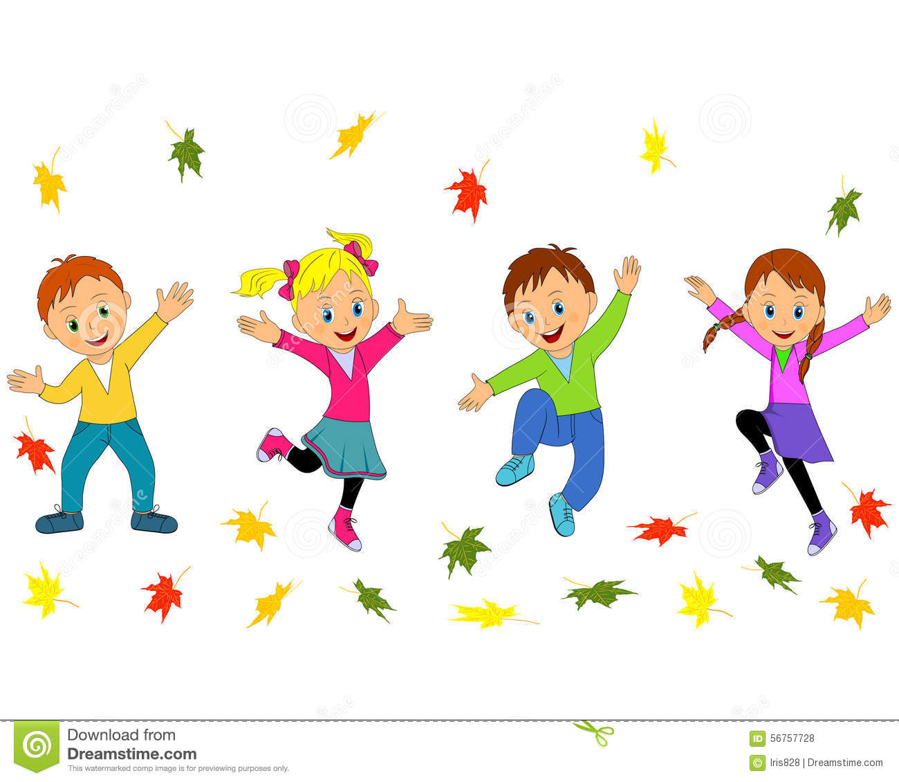 children boys and girls jumping and waving their hands child playing clipart kid playing clipart